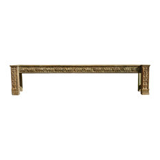 Consigned Architectural Long Hall Console Table