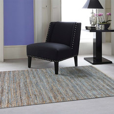 Amer Rugs Inc. - Naturals Area Rug, Rectangle, Blue, 8'x10' - Area Rugs