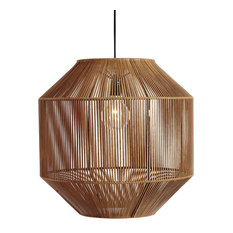 """Leather and Iron """"Nest"""" Lamp"""