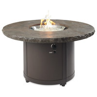 """Beacon Fire Pit Table w/ Electronic Ignition, NG, Marbleized Noche, 48"""" x 48"""""""