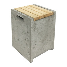 Concrete and Wood Stool