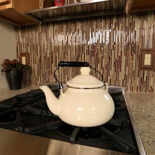 Home design - small modern home design idea in Denver