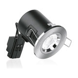 Enlite GU10 Compact Fixed Position Fire Rated Downlight, Polished Chrome