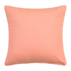 """Solid Apricot, Pale Peach Accent Throw Pillow Cover, 16""""x16"""""""
