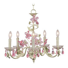 5-Arm Crystal Flower Chandelier