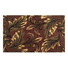 Imports Decor   Imports Decor 749JTR Leaves Area Rug, Brown   Doormats