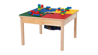 """Duplo Compatible Play Table With Storage Bag, 27""""x27"""", Without Play Table Cover"""