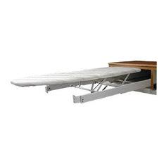 "Hafele Built Flip and Tip 37 3/8""x20 1/4"" Ironing Board White"