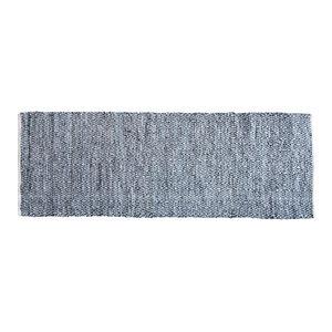 Elisa Midnight Leather Rug, 140x200 cm