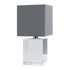 Mini table lamps houzz renn modern cube crystal mini table lamp table lamps aloadofball Image collections