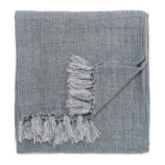 Jaipur Living Lisabet Taupe Solid Throw, 51x67, Blue Mirage