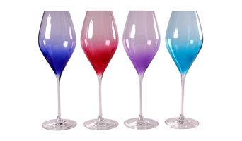 Tutti Coloured Wine Glasses, Set of 4