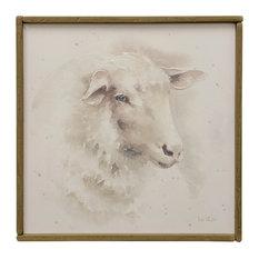 Sheep Farm Animal Art, Canvas Print with Handpainting