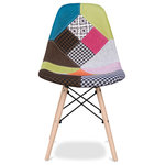 Modholic.com - Eiffel Chair With Wood Legs, Multi, Single - Eiffel Side Chair is a slight adaptation of the original designer side chair created in the 1960's.