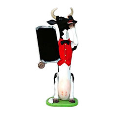 Skinny Cow Butler - 5.5' Life Size Statue