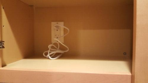 Hiding Under Cabinet Light Wire