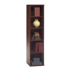 Bush Business Furniture Series C 18W 5-Shelf Bookcase in Hansen Cherry