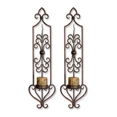 Uttermost Privas Metal Wall Sconces, Set of 2
