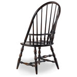Hooker Furniture - Sanctuary Windsor Side Chair, Ebony - Whether pulled up to the dining table or incorporated in your living room design, the Sanctuary Windsor Armchair adds charming style and a dose of country-inspired character to your space.