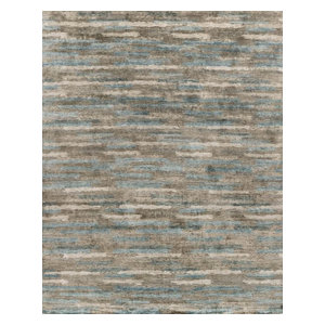 Hand Knotted Viscose From Bamboo Transcend Td 03 Ink Blue Area Rug By Loloi Contemporary Area Rugs By Loloi Inc