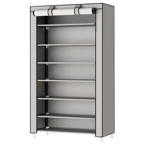 Modern Stylish Storage Organizer Upholstered, 8-Tier, Deep Grey