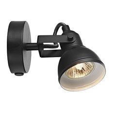 Unique Industrial Designed Matt Black Switched Wall Spot Light