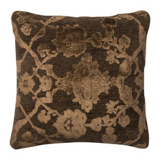 Loloi Transitional Cotton Pillow Cover, Dark Taupe, 18  x18