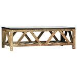 Stone Top Rustic Coffee Table