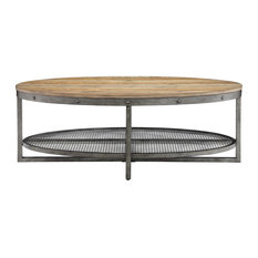 INK+IVY Oval Coffee Table With Natural Finish II120-0394