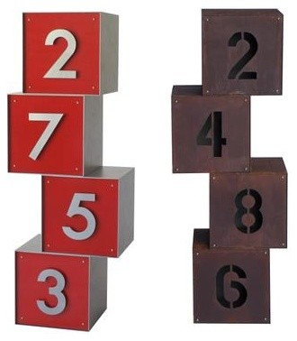 Yard art cataloged products for Minimalist house numbers