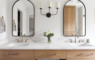 Bathroom of the Week: Bright and Sophisticated in Wood and White