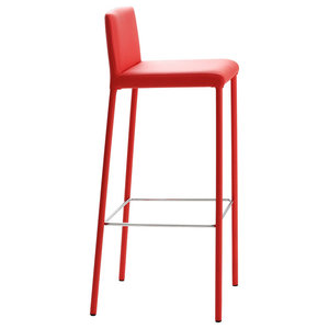 Amelie Faux Leather Red Bar Stool