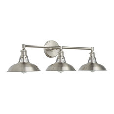 Olivera 3-Light Wall Sconce, Brushed Nickel