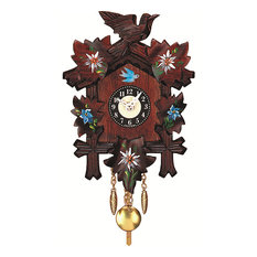 Engstler Battery-Operated Clock, Mini Size With Music/Chimes