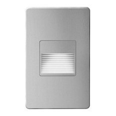 Mika Indoor/Outdoor LED Wall Light, Brushed Aluminum