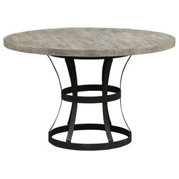 Unique Industrial Dining Tables Rebecca Pedestal Dining Table