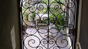 Hand Forged Scrolled Entry Gate
