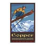 "Paul A. Lanquist Copper Mountain Colorado Ski Jumper Art Print, 30""x45"""