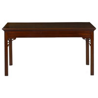 Consigned English Chippendale Rectangular Mahogany Antique Center Table