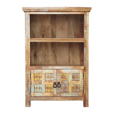 Aravali 2-Door Distressed Vintage Look Bookcase