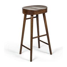 MOD - Dalton Mid Century Wooden Bar Stool, Walnut Stain - Bar Stools and Counter Stools