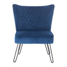 Bo Living - Tarnby Modern Accent Chair, Midnight Blue - Armchairs & Accent Chairs