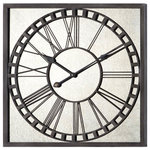 Sterling Metal Roman Numeral Outdoor Wall Clock 128 1005
