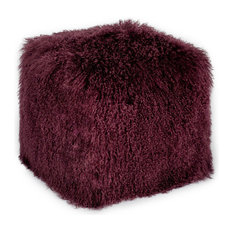 Moe's Home - Moes Home Glam Pouf, Purple - Floor Pillows and Poufs