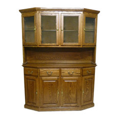 Traditional Buffet and Hutch Red Oak