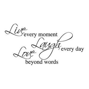 Live Laugh Love Wall Sticker, Black, 60x120 cm
