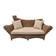 Kuta Water Hyacinth Woven Love Seat