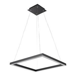 Draper Matte Black LED Integrated Pendant