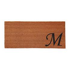 Urban Chic Monogram Doormat 2'x4', Letter M