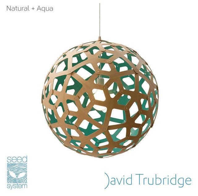 David Trubridge Coral Pendant Light Aqua